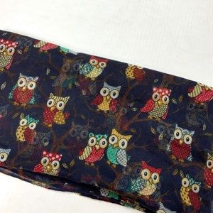 unbranded Accessories - Infinity blue scarf with owls design.